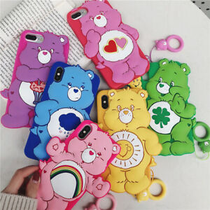 For Apple Iphone 6 7 Plus 8 X Care Bears Phone Case Lovely Back Silicone Cover Ebay