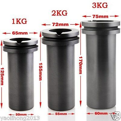 1pcs High Purity Graphite Casting Melting Crucible 1KG or 2KG 3KG Gold & Silver