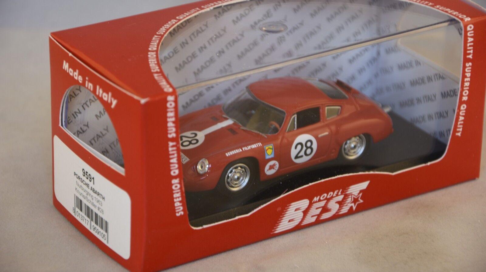 BEST MODEL BES9591 - Porsche Abarth Nurburgring - 1963   1 43