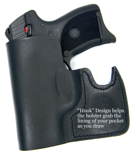 P22 CEBECI FRONT POCKET BLACK LEATHER CCW CONCEALMENT HOLSTER for WALTHER PK380