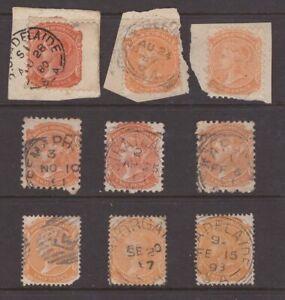South-Australia-postmark-selection-on-2d-QV-stamps