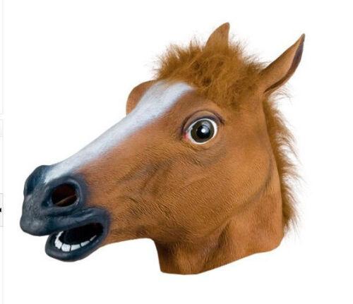 Chevaux masque Marron Cheval Caoutchouc Masque Latex Carnaval Horse Mask ross