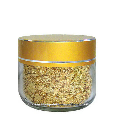 GOLD FLAKES - 100mg net - 999/1000 pure - 24 Carats - Gold Leaf Leaves - EDIBLE