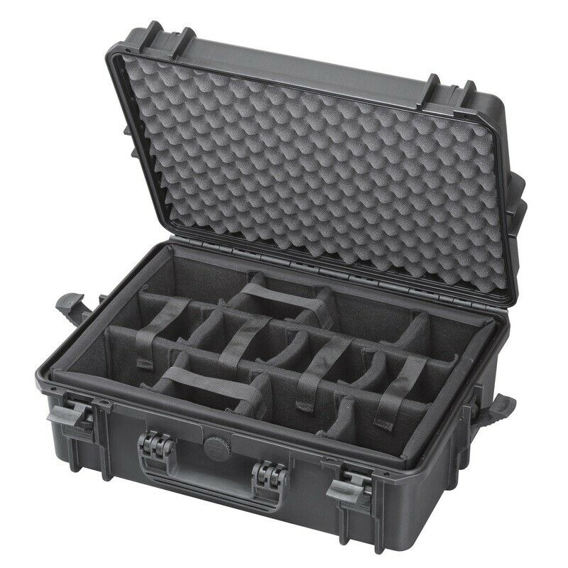 Waterproof IP67 Hard Protective Briefcase Camera Case + Moveable Padded Planks!