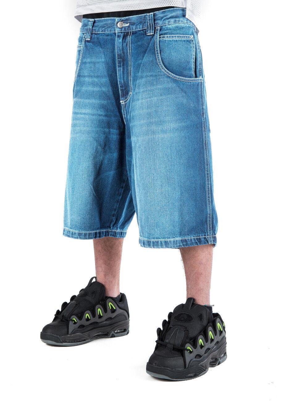 Bermuda jeans baggy THEbluSKIN skate rap hip hip hip hop bss39 0a38dc