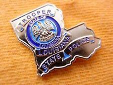 Louisiana State Police Trooper Proud Gold Mini Shirt Lapel Badge Shield Pin 1