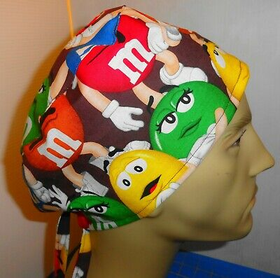 Medical/_Surgical scrub hat/_cap/_minions/_despicable me/_packed/_stacked/_cotton/_ties