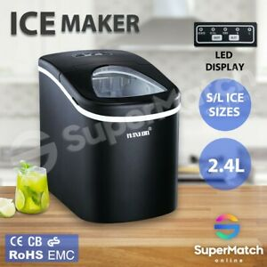 Maxkon-Portable-2-4L-Ice-Maker-Machine-Commercial-Automatic-Fast-Snow-w-LCD