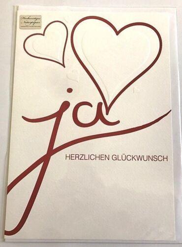 Glückwunschkarten Hochzeit *NEU* elegant XXL 21cm x 29,5cm mit Umschlag Wünsche