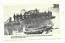 1978 1903 NJ Frenchtown New Jersey Ferry on Delaware River Flood Postcard