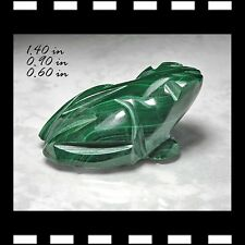 MALACHITE MINERALS STONE CARVING FROG CARVED AFRICA