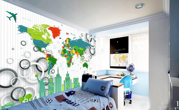 3D Maps Anime 485 Wallpaper Murals Wall Print Wallpaper Mural AJ WALL UK Summer