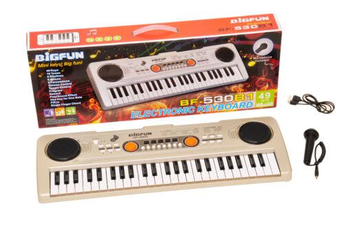 49 Keys Digital Electronic Keyboard With Microphone USB Piano Organ Music Toy