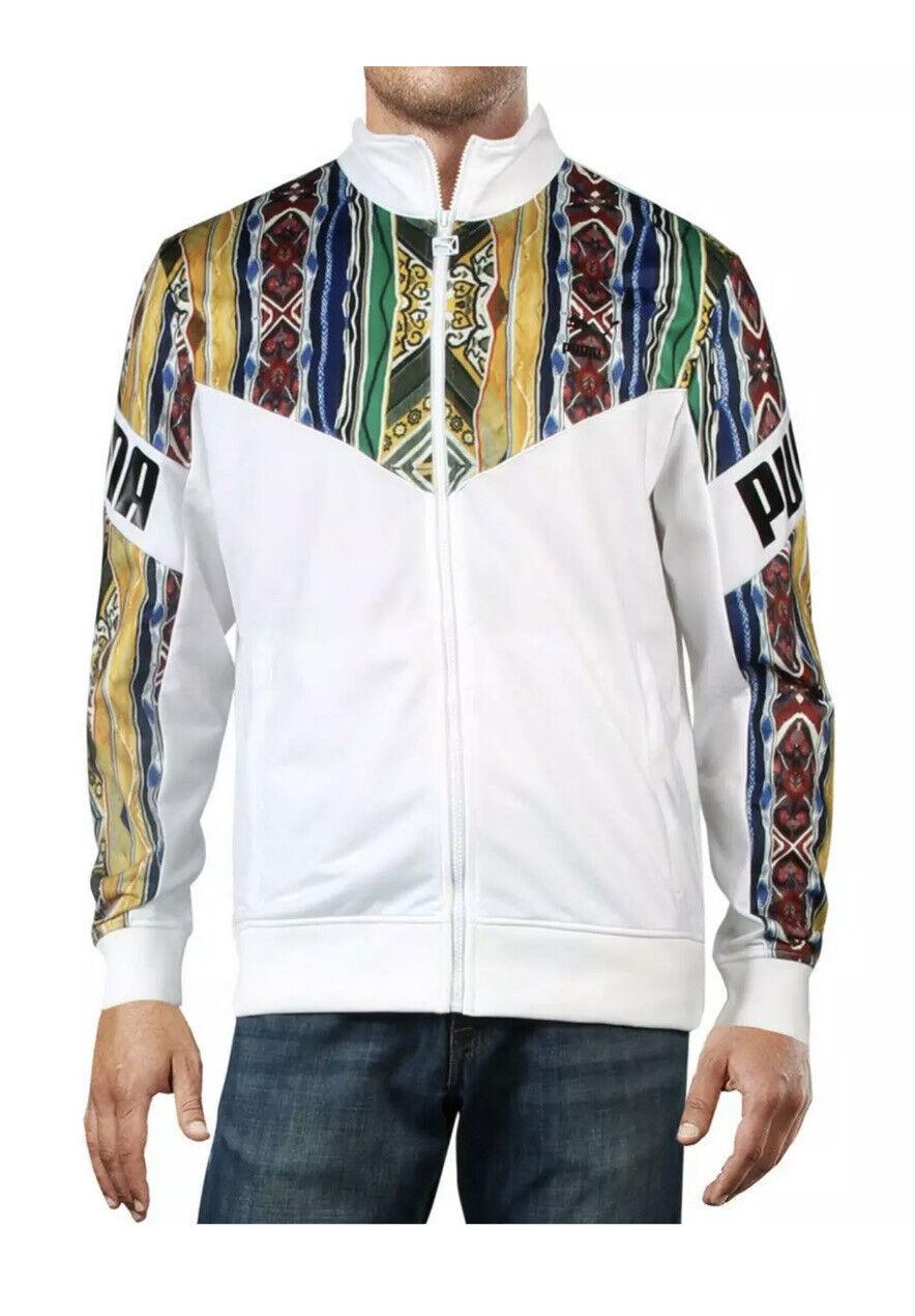 Puma Mens Coogi White Track Suit Jacket