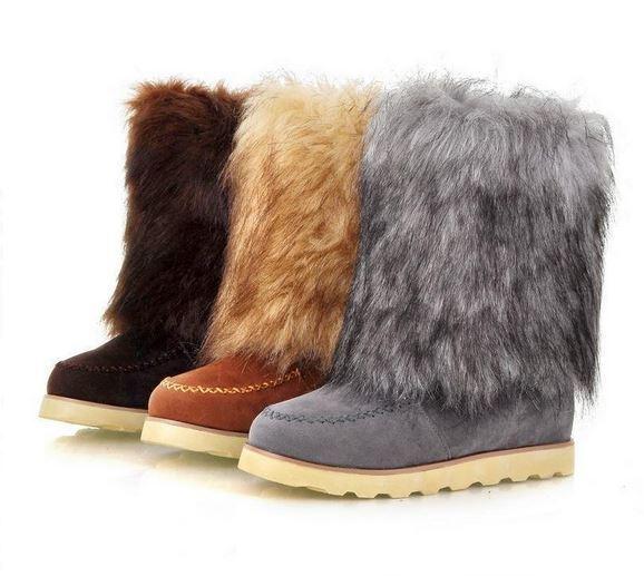 botas invierno cómodo mujer zapatos talón 2 cm como piel 8832