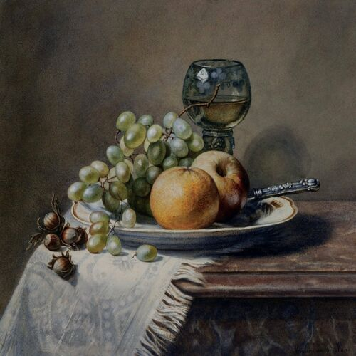 FRUIT HAZELNUTS H Haas orange grape Tile Mural Kitchen Backsplash Marble Ceramic