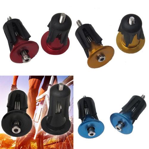 Alloy Road Bike Cycling Cycle Handlebar Bar Cap End Grip Handle Plug Cover //