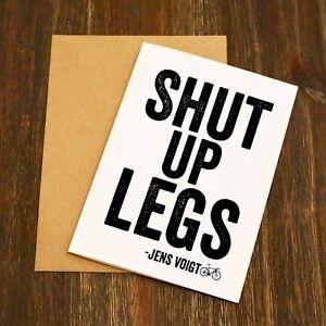 Jens Voigt shut up jambes carte de vœux