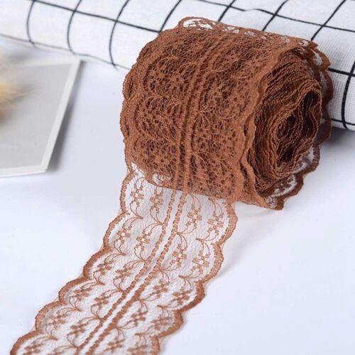 10 Meter Spitze Polyester Spitzenband elastisch Farben Spitzenborte Praktisch