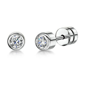 0e138687a Image is loading Ladies-Titanium-Stud-Earrings-Set-With-CZ-Stone-