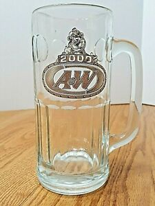 A-amp-W-2000-Glass-Mug-Collectible-Root-Beer-Vintage