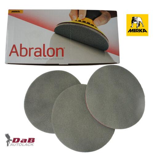 Mirka Abralon Meules p180-p4000 ø150mm Velcro schleifpads