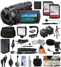 Sony FDR-AX33 4K HD Handycam Camcorder + 128GB Filmmaker's Broadcasting Bundle