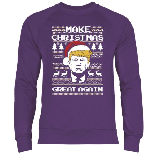 Felpa uomo make Christmas Great again Trump