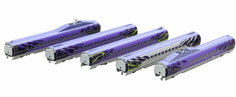 Rokuhan T013-5 Shinkansen Series 500 Evangelion 5 Cars Add-On Set - Z