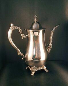 Vintage Oneida Silver Plated Coffee Pot Baronet Pattern   eBay