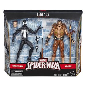 (en Mano) Marvel Leyendas 6  pulgadas simbiota Spider-Man & Kraven el cazador 2pk Nuevo
