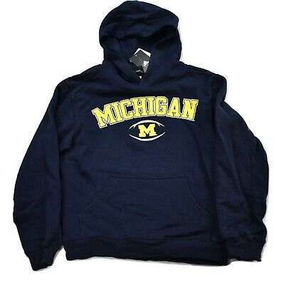 NWT Toddler Girl U of M Hooded Zipper Sweatshirt Wolverines Michigan Ann Arbor
