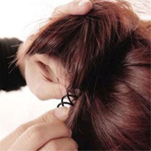 10x Spiral Spin Screw Bobby Pin Hair Clip Twist Barrette Hairpins BlackColour YC