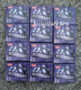 Hem-Blueberry-Incense-12-x-10-Cone-120-Cones-Fruity-Fragrance-Scent-NEW
