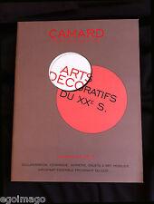 """JOLI CATALOGUE DE VENTES """"ARTS DÉCORATIFS du XXe """" CAMARD  PARIS 26 Janvier 2007"""