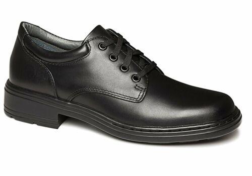 Clarks Infinity Junior Black Leather School Shoes