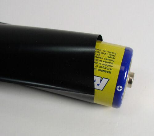 Black 30/' PVC Heat Shrink Tubing 57mm x 0.06mm x 10 yds