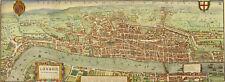 Civitas Londinium: large scale Agas map of Tudor (Elizabethan) London. Brand new