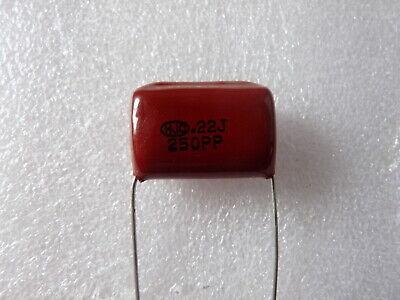 2 condensateurs polypropylene 3,3uF 250V 5/% HJC MPP