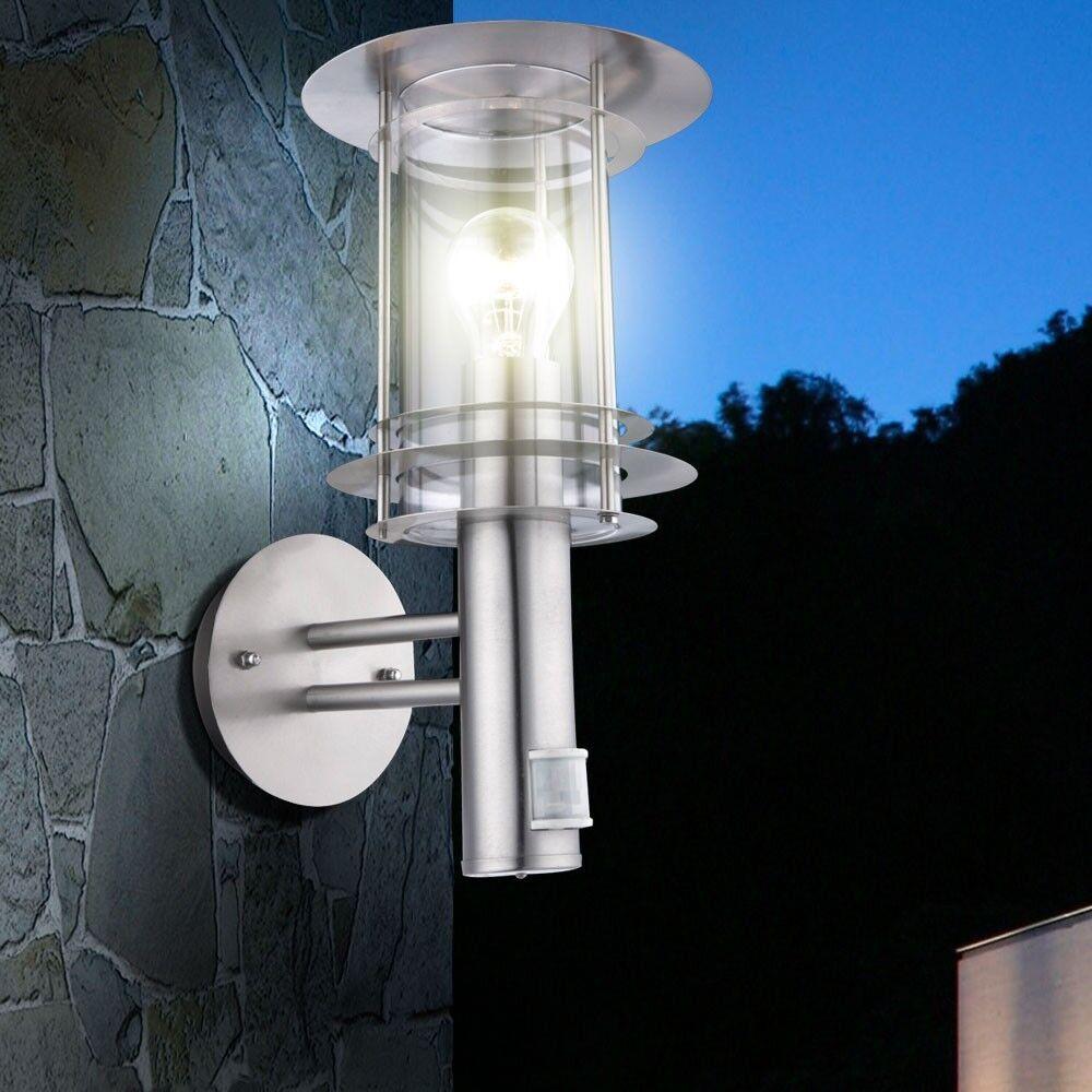 Design Extérieur Acier Inoxydable Applique Murale Lampe Spot Détecteur de