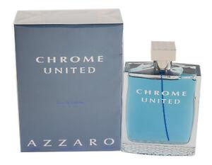 2ab7c2e0de Chrome United Men s By Azzaro 6.7 6.8 oz 200 ml EDT Spray New In Box ...