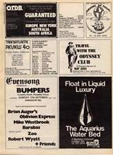 Brian Auger Mike Westbrook Zoo Robert Wyatt show advert Time Out cutting 1971