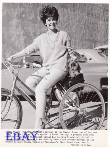 Suzanne Pleshette on bike wdog Wall Of Noise