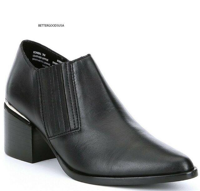 c8649dcef71 Steve Madden Women Korral Ankle BOOTIES Leather Slip on Western BOOTS Black  8 M for sale online