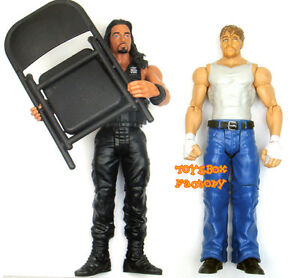 Details about Roman Reigns & Dean Ambrose The Shield WWE Wrestling Chair  Action Figure Kid Toy