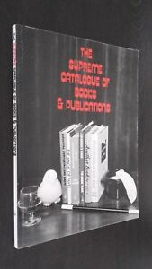 The Supreme Catálogo Of Books Pubications 1988 Edwin A Dawes Tbe