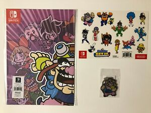WarioWare: Get It Together! [Poster+Stickers+Metal Keyring] New&Sealed / No Game