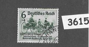 #3615  Germany 1939 Berlin Auto Show - Nurburgring Overprint Sc B141   PF06 + 04