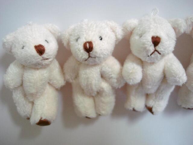 Mm brown tan teddy bear padded applique headband bows card