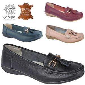 ladies jojoe genuine leather loafers slip on office work